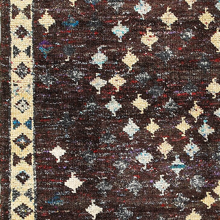 Rajani Hand-Knotted Silk Brown Area Rug