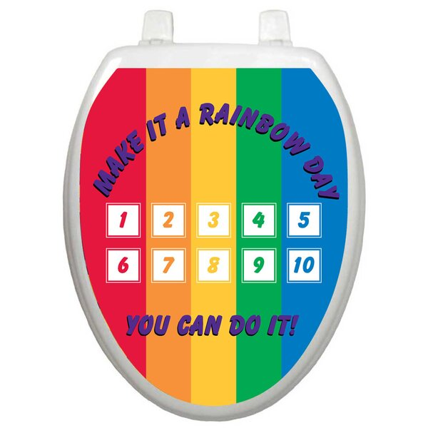Toilet Training Rainbow Toilet Seat Decal by Toilet Tattoos