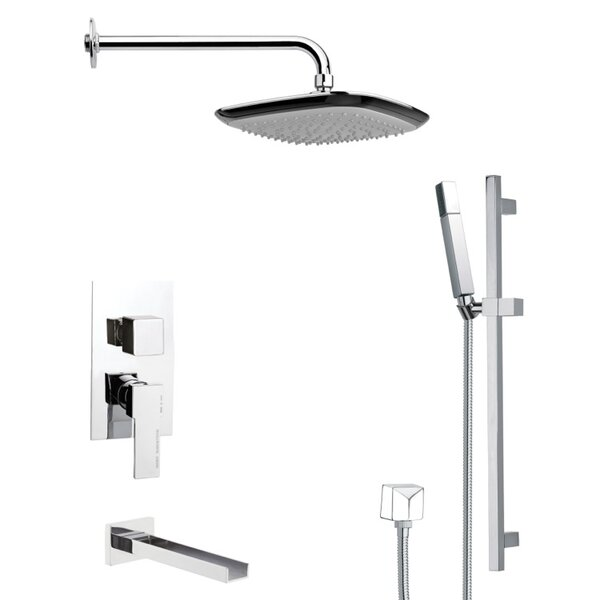 Galiano Pressure Balanced Complete Shower System With Rough-in Valve By Remer By Nameek's