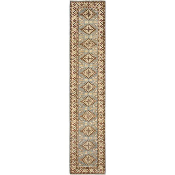 One-of-a-Kind Dicarlo Hand-Knotted Wool Beige/Blue Indoor Area Rug by Isabelline