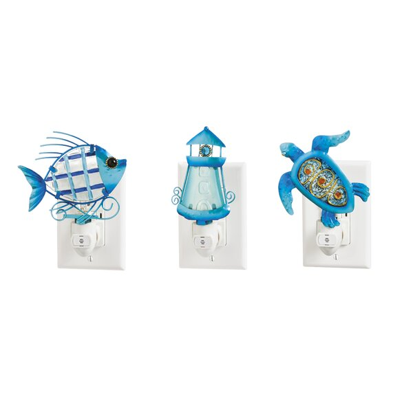 3 Piece Ocean Night Light Set by Evergreen Enterprises, Inc