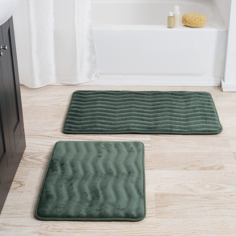 Memory Foam 2 Piece Bath Rug