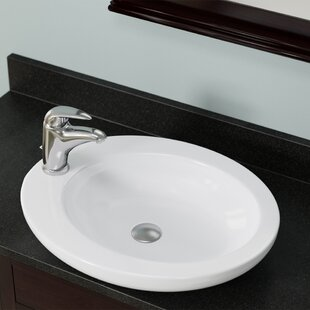 Top Vitreous China Oval Vessel Bathroom Sink ByMR Direct