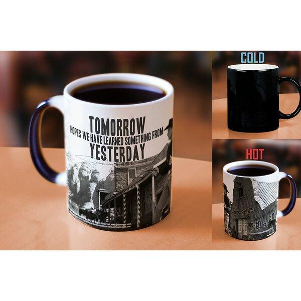 John Wayne The Duke Learn From Yesterday Heat Reveal Ceramic Coffee Mug by Morphing Mugs