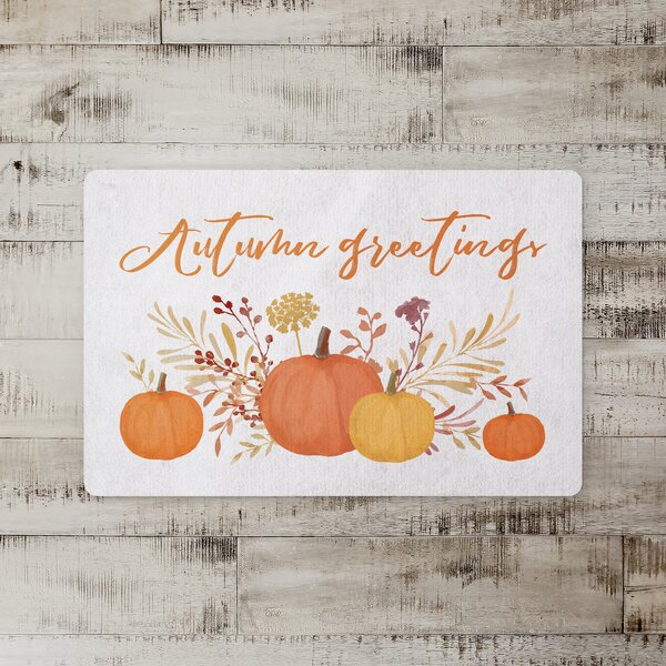 Kimana Autumn Greetings Kitchen Mat