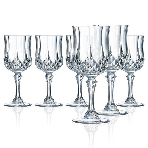 Pospisil 8.25 oz. Wine Goblet (Set of 6) by Astoria Grand