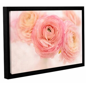 Pink Peonies' Framed Photographic Print on Wrapped Canvas by Winston Porter
