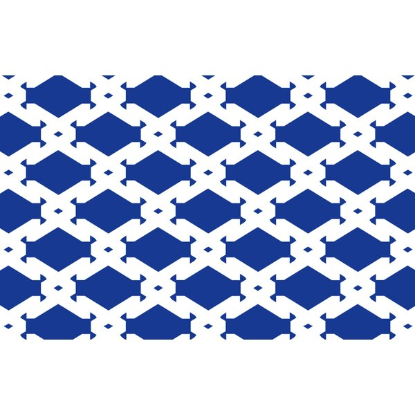 Modern Geometric Sapphire Rug by Manual Woodworkers & Weavers