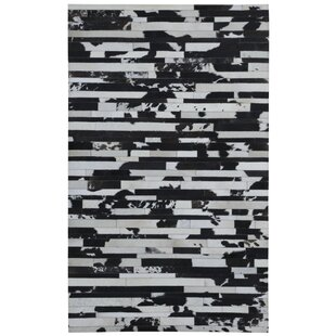 Order Sandford Hand-Woven Black/Tan Area Rug By Ivy Bronx