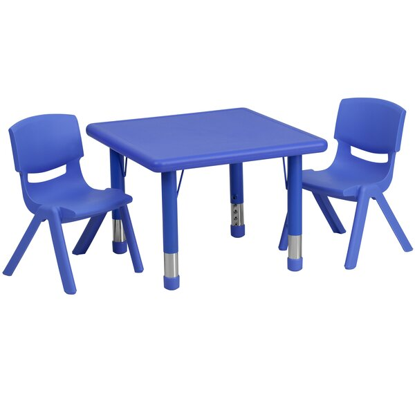 3 Piece Square Activity Table & 10.5 Chair Set by Flash Furniture