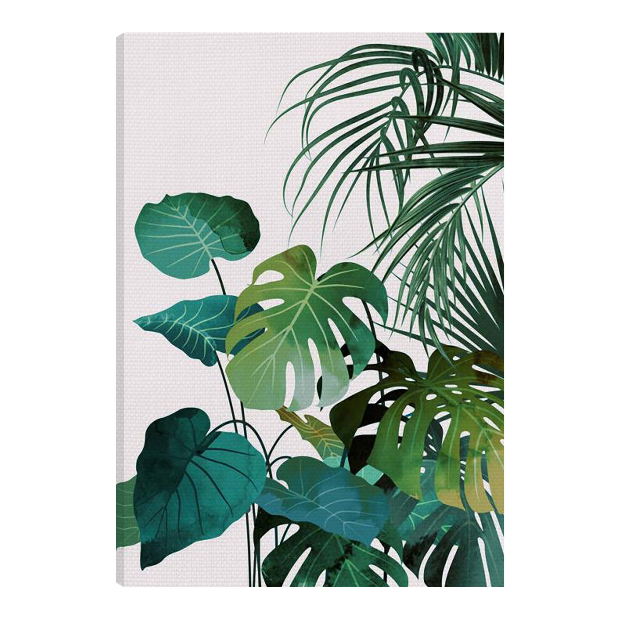 Bayou Breeze Tropical Leaves Wrapped Canvas Painting Wayfair About 0% of these are decorative flowers a wide variety of painting tropical options are available to you, such as technics, material, and use. tropical leaves wrapped canvas painting