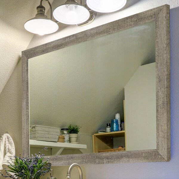 Country Barnwood Wall Mirror by Second Look Mirrors