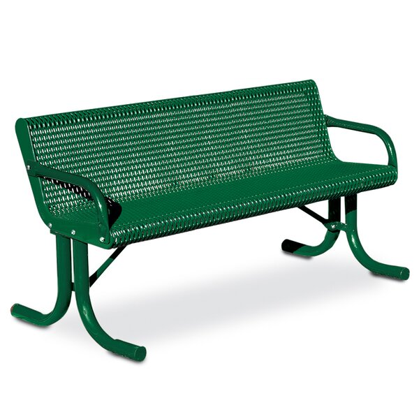 Courtyard Steel Park Bench by Anova