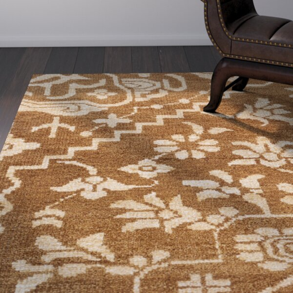 Tarangini Hand-Knotted Brown/Beige Area Rug by World Menagerie