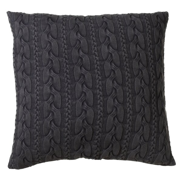 Albinson Oversized Cable Knit Acid Wash Cotton Floor Pillow by Gracie Oaks