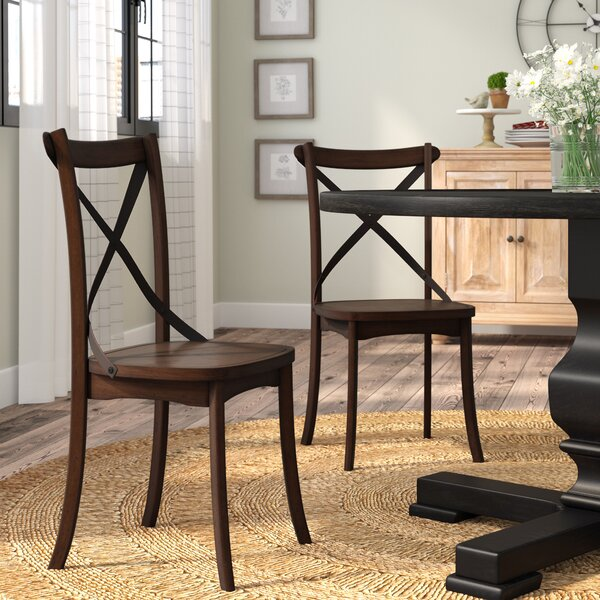Chapeau Solid Wood Dining Chair (Set of 2) by Laurel Foundry Modern Farmhouse