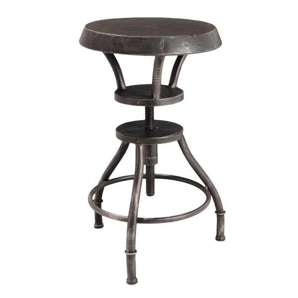 Baulch Adjustable Height Swivel Bar Stool by Williston Forge