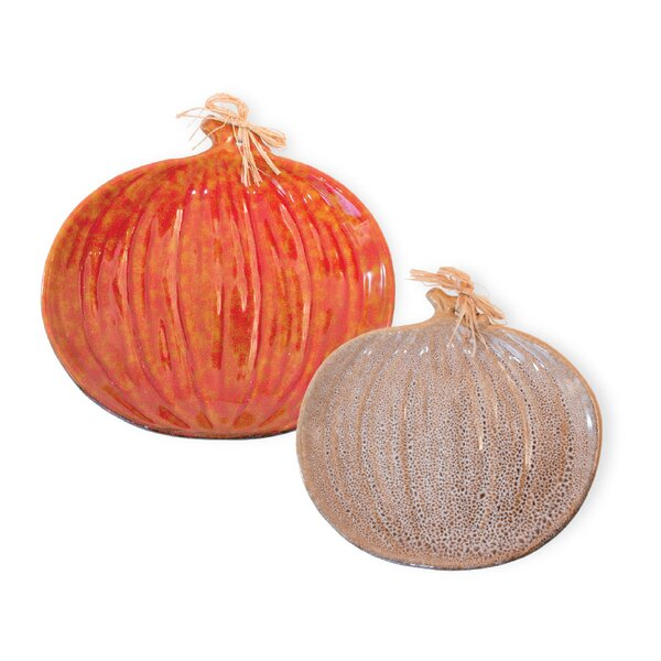 Dasheil Pumpkin 2 Piece Platter Set by The Holiday Aisle