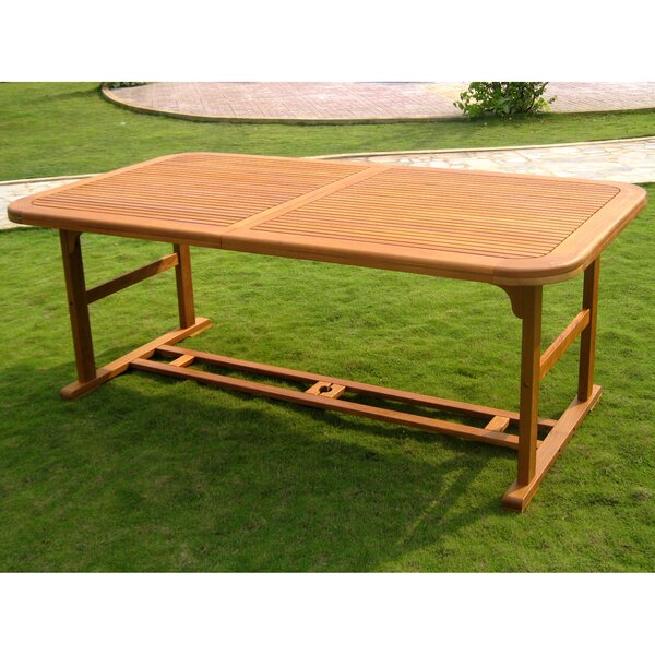 Kirkpatrick  Extendable Solid Wood Dining Table by Bayou Breeze