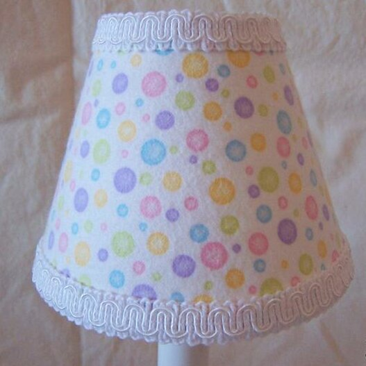 Super Sweet Dot 7 H Fabric Empire Lamp shade ( Screw on ) in Purple/Pink/Yellow