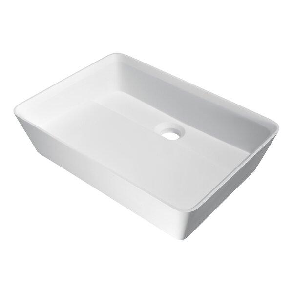 Sharon Plastic Rectangular Vessel Bathroom Sink by