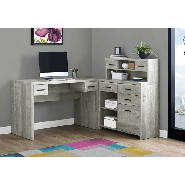 Doughton L-Shape Computer Desk with Hutch by Ivy Bronx