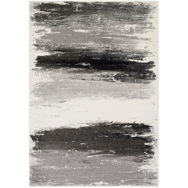 Shuff Gray/Black Area Rug by Wrought Studio