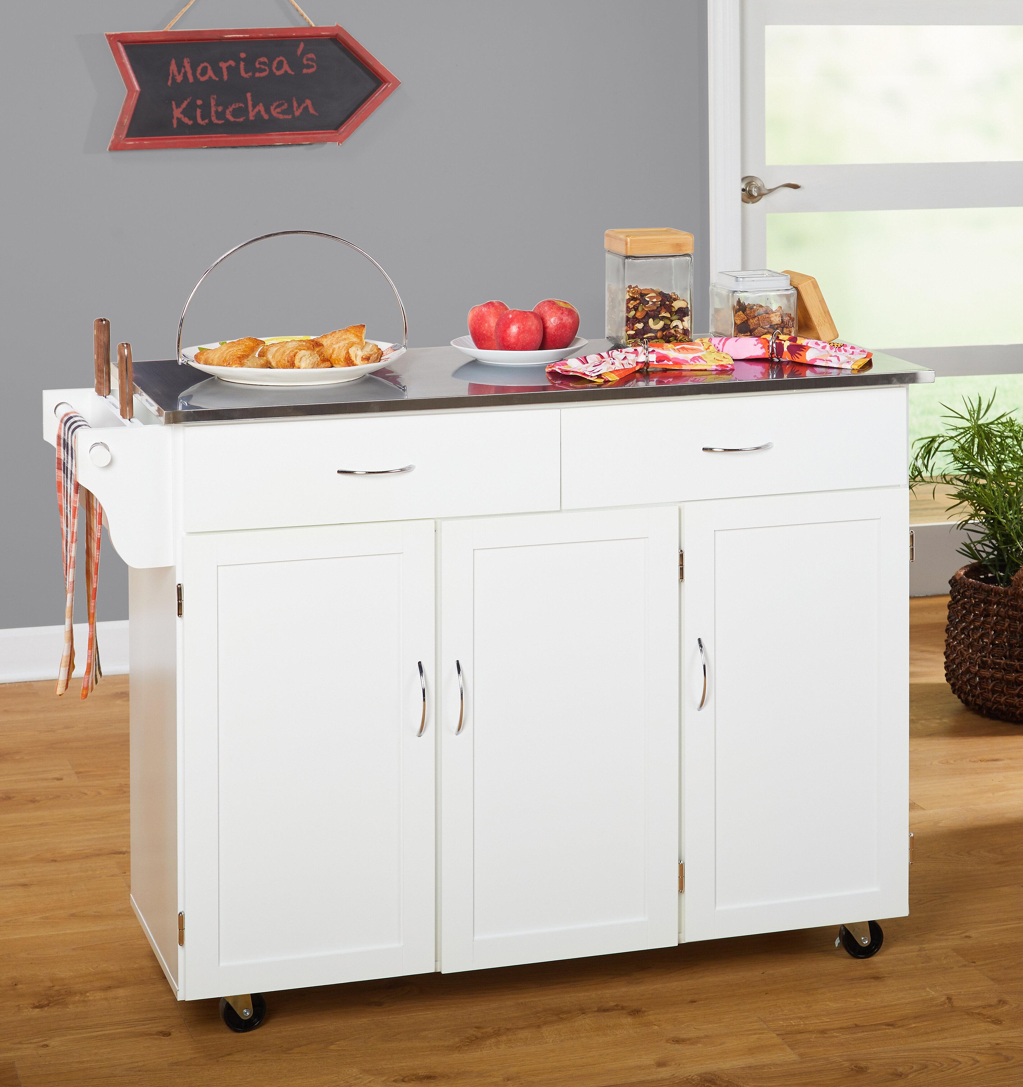 Garrettsville Kitchen Cart With