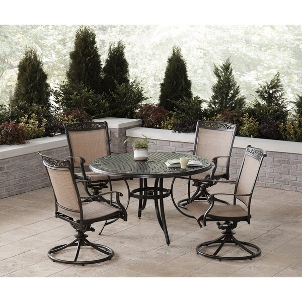 Bucher 5 Piece Outdoor Dining Set by Fleur De Lis Living