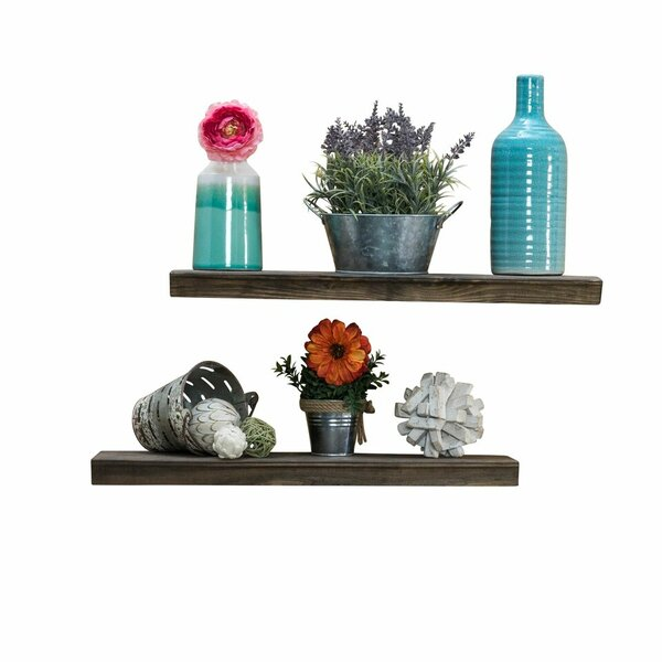 Hedrick 2 Piece Floating Shelf Set by Gracie Oaks