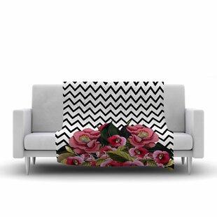 Price comparison Tobe Fonseca Spring Pattern Chevron Multicolor Mixed Media Fleece Blanket ByEast Urban Home