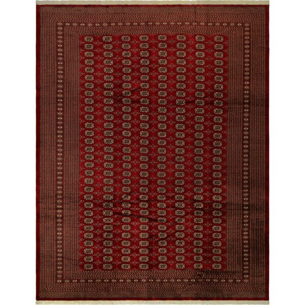 One-of-a-Kind Tanaquil Hand-Knotted Wool Red/Gold Area Rug by Bloomsbury Market