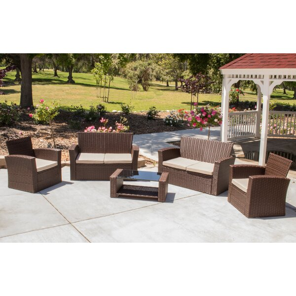 Hope 5 Piece Rattan Sofa Set with Cushions by Ivy Bronx