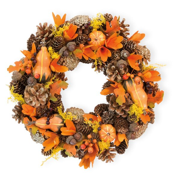14.5 Gourds and Berries Wreath by The Holiday Aisl