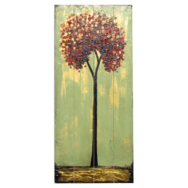Tall Trees Painting Print Multi-Piece Image on Wood by Artehouse LLC