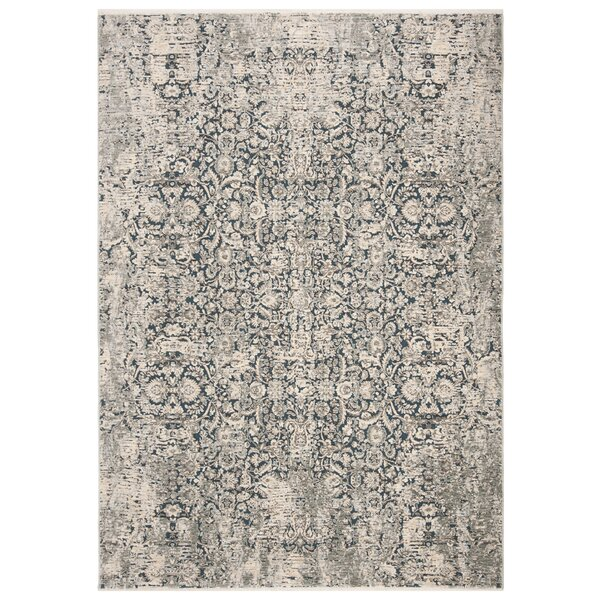 LosPalmos Blue/Gray Area Rug by Ophelia & Co.