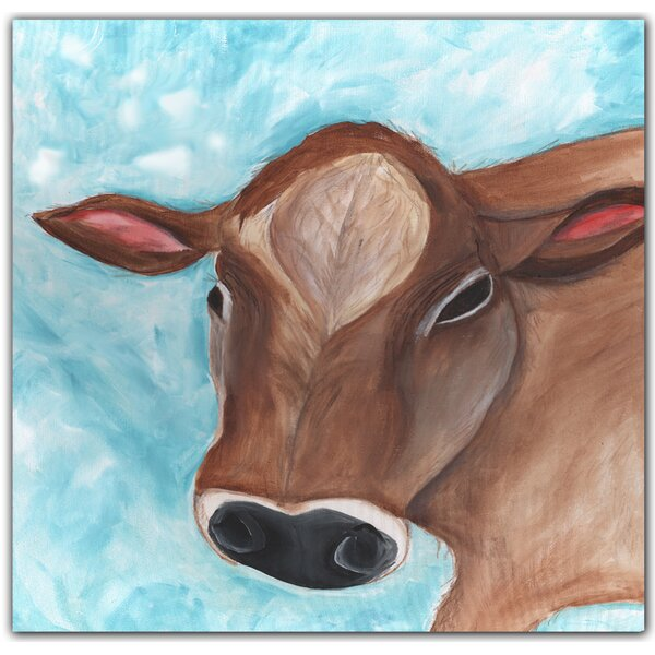 Colby Cow Paper Print by Doodlefish