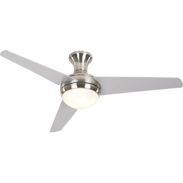 48 Bernabe 3 Blade Ceiling Fan with Remote by Mercury Row