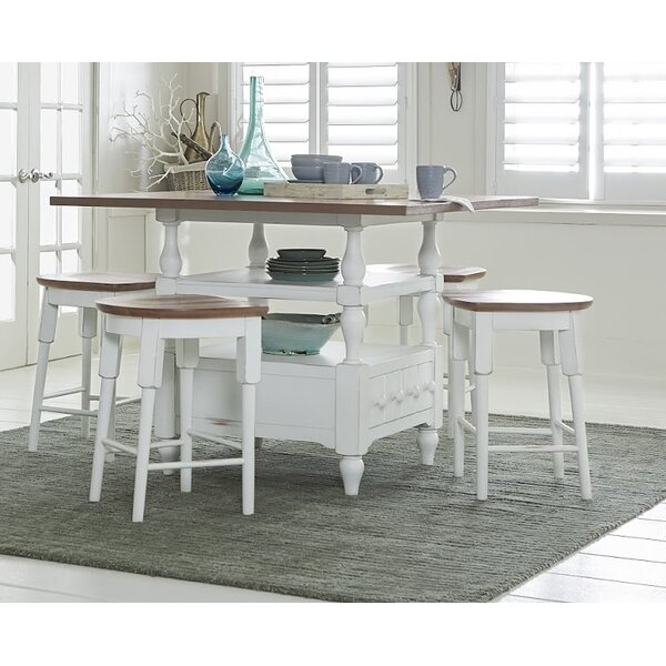Pineville 5 Piece Dining Set by Rosecliff Heights