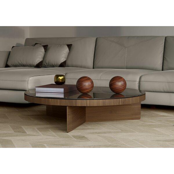 Longford Cross Legs Coffee Table By Modloft Black