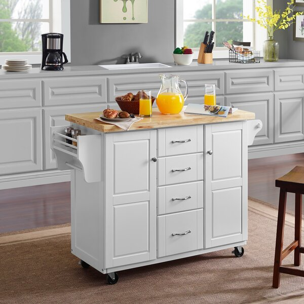 Mireya Kitchen Cart by Charlton Home