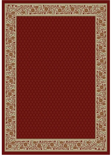 Jewel Harmony Red Area Rug by Threadbind