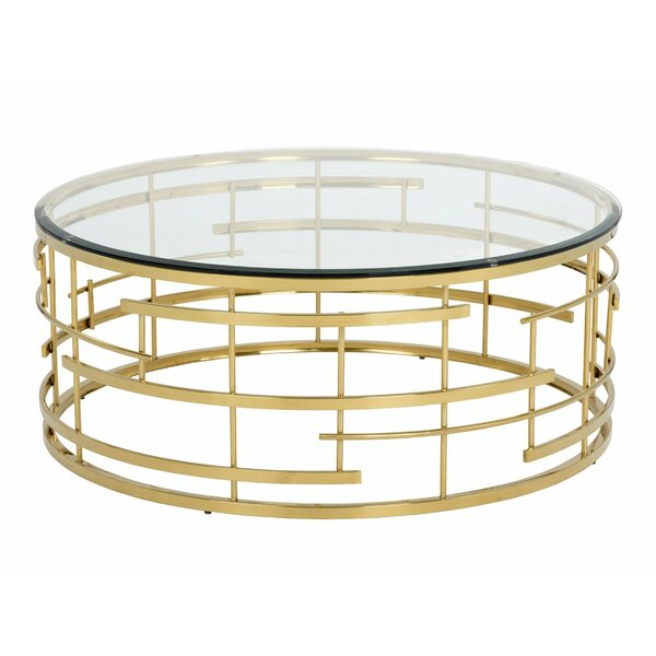 Rebbecca Glass Coffee Table by Everly Quinn