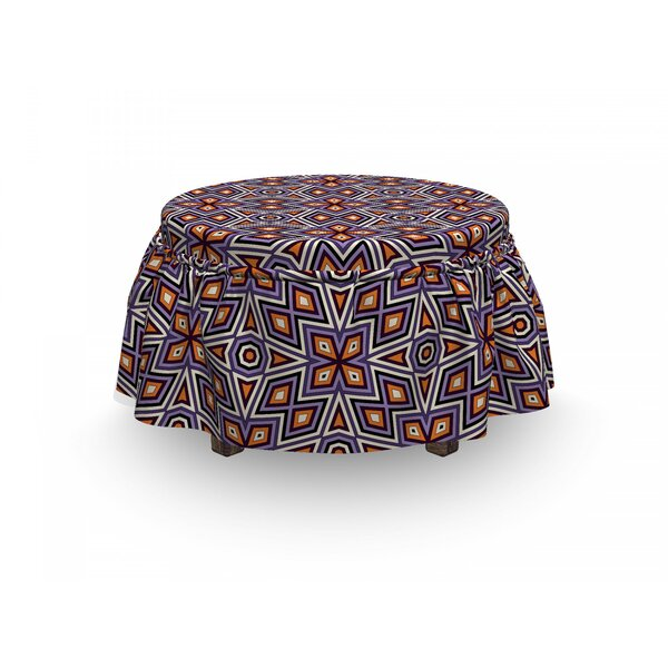 Mesh Composition Ottoman Slipcover (Set Of 2) By East Urban Home