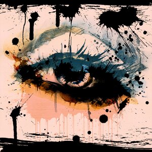 Abstract Eye Painting Print on Canvas by Salty & Sweet