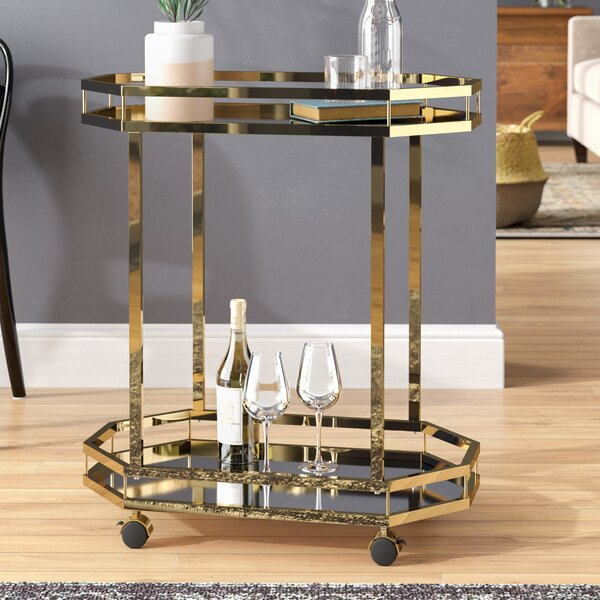 Deschenes Bar Cart by Mercury Row