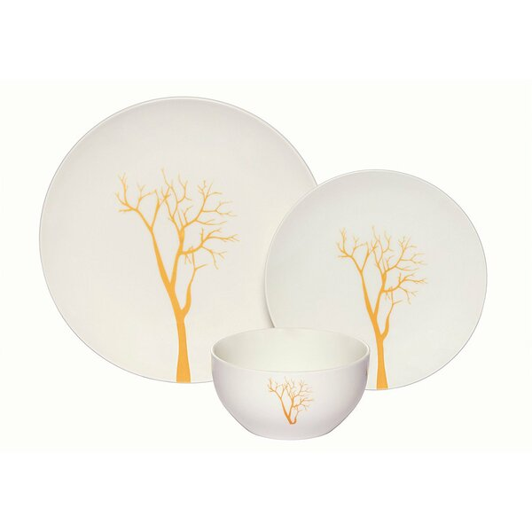Rohan Tree Coupe 36 Piece Dinnerware Set, Service for 12 (Set of 12) by Darby Home Co
