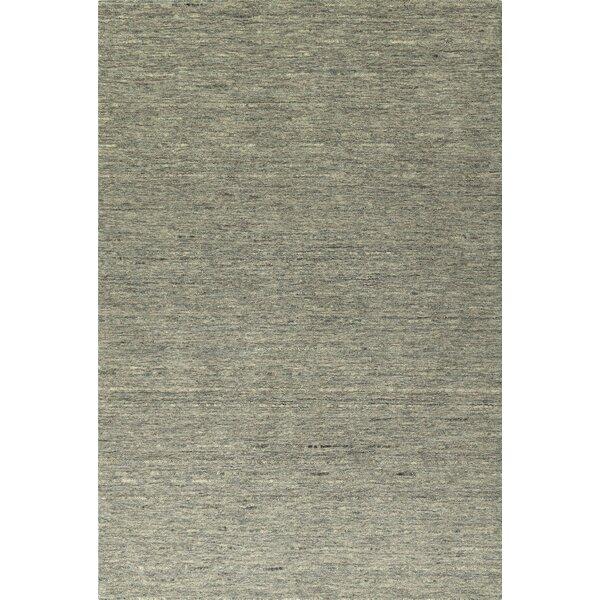 Glenville Hand-Woven Wool Fog Area Rug by Latitude Run