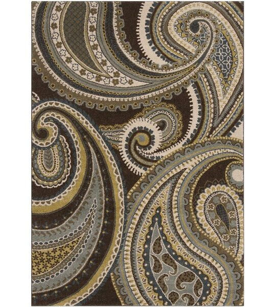 Mya Light Brown Area Rug by Winston Porter