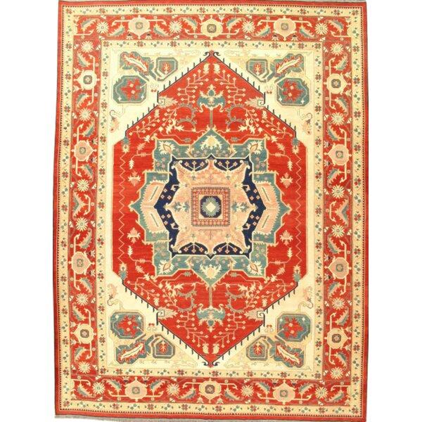 Pak Sumak Serapi Design Hand-Knotted Wool Red Area Rug